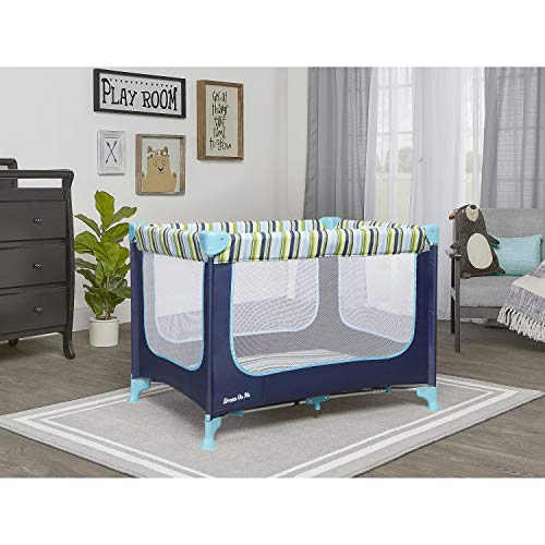 51HZwiJoftL - Dream On Me, Zodiak Portable Playard, Navy