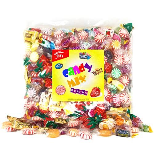 Party Candy Mix Bulk Assortment Bag Jolly Ranchers Strawberry Filled Brachs Werthers by Variety Fun Net wt 3.5 LB/56 oz