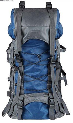 アウトドア登山バッグショルダーキャンプのオスとメスの大容量のハイキング B07C3HL2XM 青