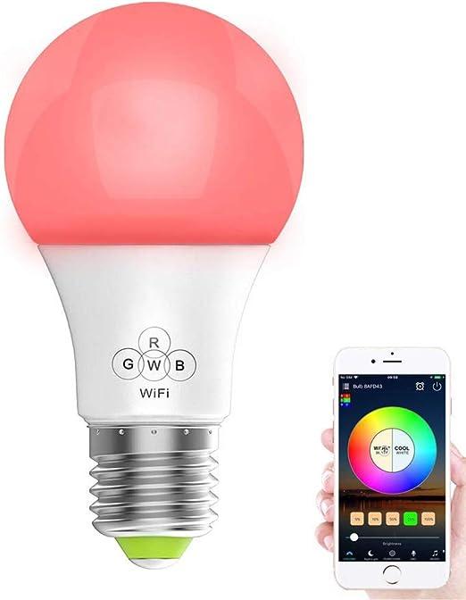 gamme exceptionnelle de styles et de couleurs prix abordable mieux aimé Magic Smart Ampoule LED RVB à intensité variable avec ampoule à économie  d'énergie avec Amazon echo Alexa 40 W (16 couleurs Mio, 4,5 W)