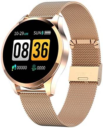 GOKOO Sports Smart Watch for Men Women with Heart Rate Blood Pressure Sleep Monitor Physiological Period Reminder IP67 Waterproof Calorie Pedometer Counter Bluetooth Smartwatch Fitness Tracker Gold