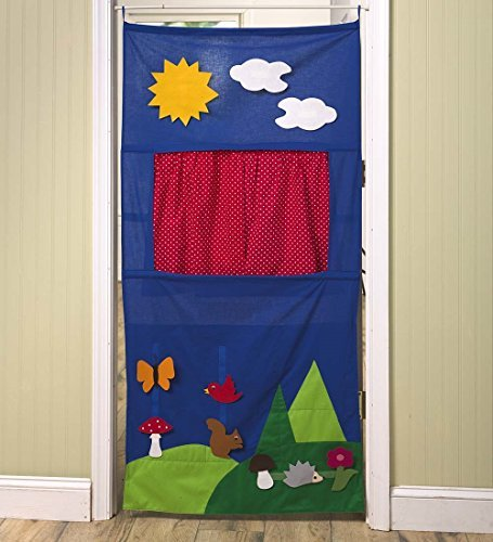 Moravska Ustredna Brno Doorway Puppet Theater with Scenes, Blue
