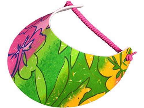 bk-caps-fashion-summer-fabric-foam-sun-visor-hat-30-styles-brand-new-floral-fuchsia