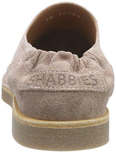 Shabbies Amsterdamlow Norfolk flat sole - Mocasines Mujer Rosa (Cipria)