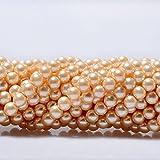 RUBYCA 200Pcs Czech Tiny Satin Luster Glass Pearl Round Beads Beading Jewelry Making 4mm Champagne