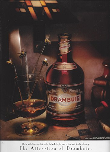 MAGAZINE AD For 1995 Drambuie Liqueur: The Attraction Bee Stir Stick Scene