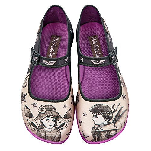 Cioccolata Calda Design Chocolaticas Nova & Orion Womens Mary Jane Piatta Multicolore