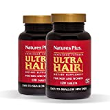 Natures Plus Ultra Hair (2 Pack) - 120 Easy to Swallow Mini Tablets, Sustained Release - Hair Growth Supplements for Longer, Thicker Hair - Vegetarian, Gluten Free - 60 Total Servings