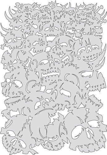 Freehand Template (Artool Freehand Airbrush Templates, Curse Of Skull Bonz)