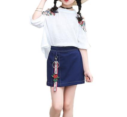 89fc549cfed93 子供用 キッズ 2点セット シャツ ドレス スカート 女の子 上下セット セットアップ 子供服 女の子