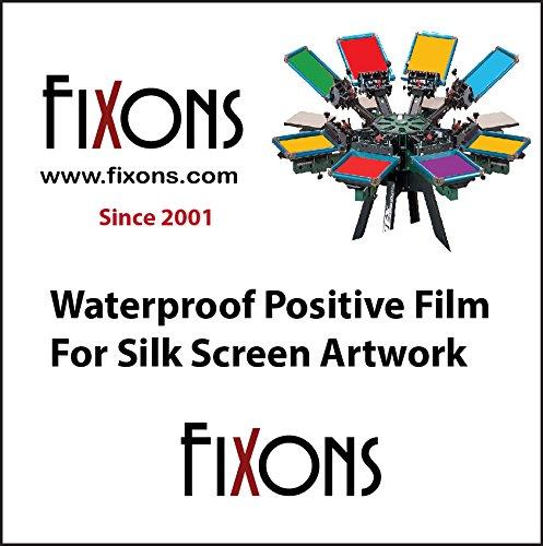 Waterproof Inkjet Screenprinting Film, Silkscreen Film 8.5 x 11 (50 Sheets) - Yudu Ink