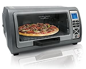 Hamilton Beach 31128 Easy Reach Toaster Oven, with Roll-Top Door, Stainless Steel