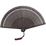 Chinoiserie Classical Bamboo Fan Hand Fan Beautiful Folding Fan Handheld Fan #17
