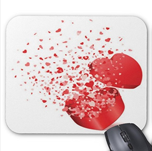 (Happy valentines day animated clip art Pattern Mouse pad 7x8.66 inch)