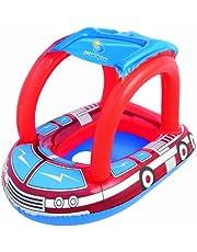 قارب سباحة مع مظلة للاطفال، متعدد الالوان، 34093