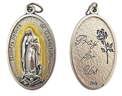 Silver Guadalupe Rosary Pectoral Medal product image
