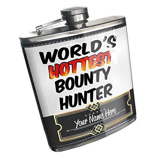 Neonblond Flask Worlds hottest Bounty Hunter Custom Name Stainless Steel
