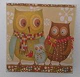 Owl Family Handmade Wood Wall Art Birthday Gift Idea Boho Eclectic Home Bedrooom Decor