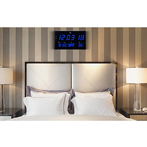 hito-Extra-Large-Oversized-LED-Wall-Clock-wDate-Week-Indoor-Temperature-Brightness-Adjustable-Memory-Function-Adapter-Included