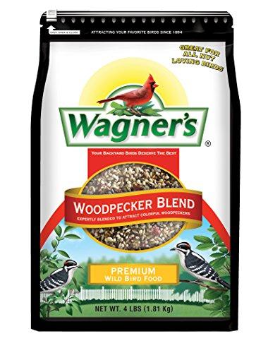 Wagner's 62063 Woodpecker Premium Wild Bird Food Blend, 4-Pound Bag (4lb Food Chickadee)