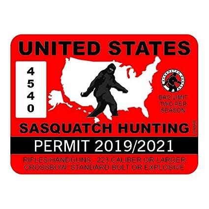 Bigfoot Hunting Permit OKLAHOMA Bumper Sticker
