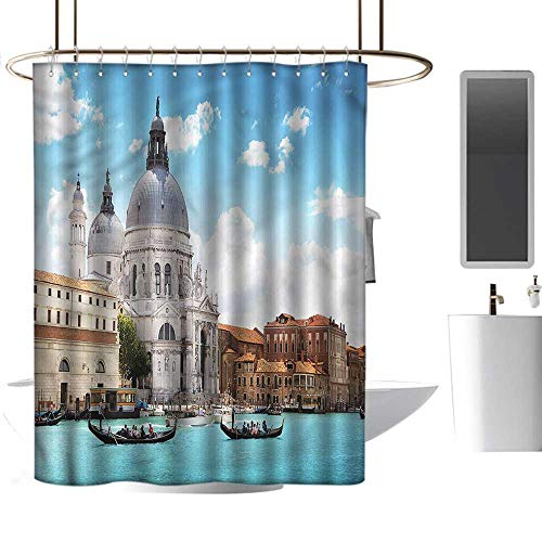 TimBeve Waterproof Shower Curtain Venice,Grand Canal Venice,Polyester Bathroom Shower Curtain Set with Hooks 36