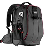 Neewer Pro Camera Case Waterproof Shockproof Adjustable Padded Camera Backpack Bag with Anti-theft Combination Lock for DSLR - DJI Phantom 1 2 3 Professional Drone Tripods Flash Lens and Other Accessory
