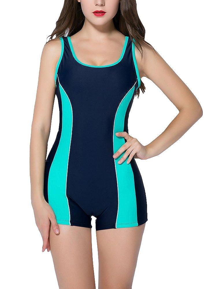 Romacci Women One Piece Swimsuit Boyleg Racerback Athletic Swimwear Sport Bathing Suit