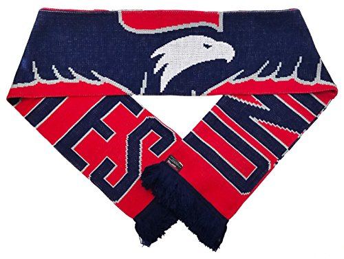 RUFFNECK Official United States National Team Soccer Scarf- Eagle Scarf, One Size, Red (United Scarf Jacquard)