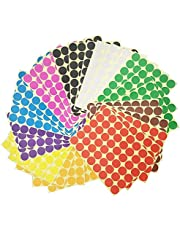 1440 pcs 1 inch Round Color Coding Circle Dot Sticker Labels - 10 Assorted Colors
