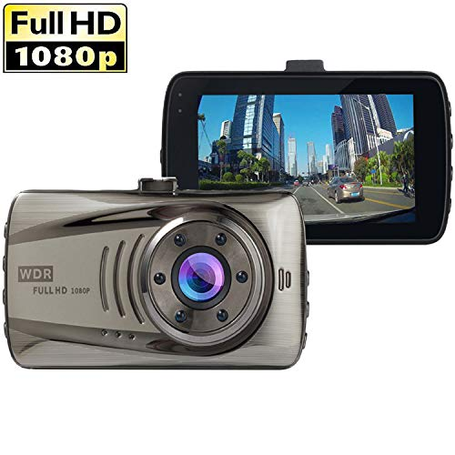 Dash Cam,Dyzeryk Car Dashboard Camera 3.0 Screen,Full HD 1080P,170 Degree Wide Angle,Vehicle On-Dash Video Recorder Camcorder,Car Camera with G-Sensor,Loop Recording,Night Vision,WDR