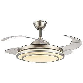 mmynl unsichtbare lfter einfache deckenventilator mit lampe fr wohnzimmer esszimmer slim lfter hngeleuchten schlafzimmer moderne - Einziehbarer Deckenventilator