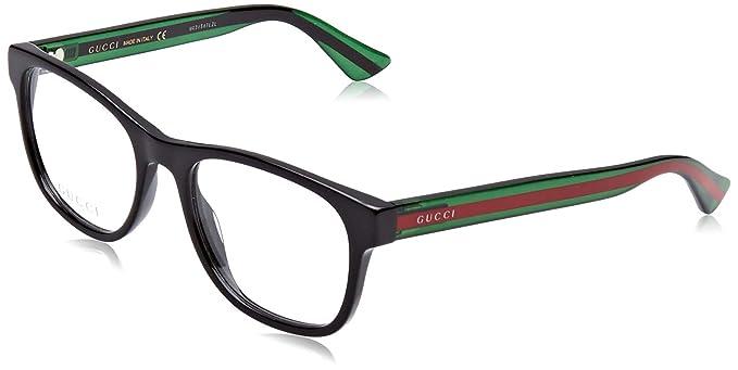 Amazon.com: Gucci GG0004O GG 0004O - Gafas de sol cuadradas ...