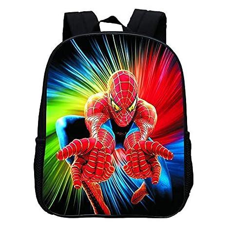 Moda 12 Pulgadas de impresión Cool Hero Spiderman niños Mochilas Escolares de Dibujos Animados bebés niños Mochila para niños pequeños Mochila C: Amazon.es: ...