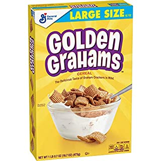 Golden Grahams Cereal, Graham Cracker Taste, with Whole Grain, 16.7 oz