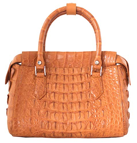Skin Hornback Tote Tan Bag M Womens Handbag Strap W Crocodile Authentic Hobo HqFEwx4