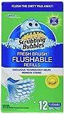 Scrubbing Bubbles 71102 12 Count, Fresh Brush Flushable Pad Refill