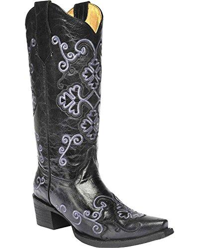 Cirkel G Womens Broderas Cowgirl Boot Snip Tå - L5brown Brun