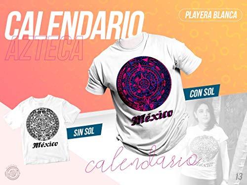 Playera Calendario Azteca de caballero chica, cambia de color con el sol.