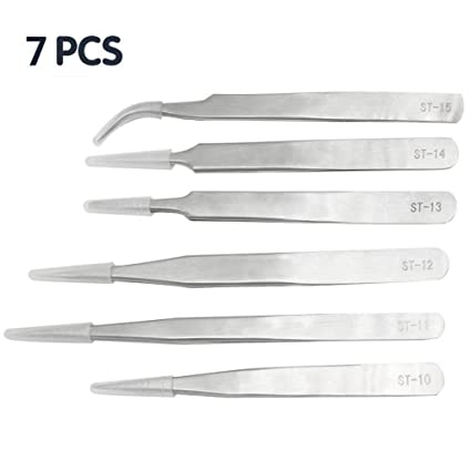 4 x Pieces Hobby Tweezer Set Long Durable Stainless Steel