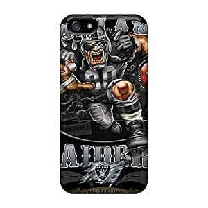Excellent Iphone 5/5s Case Tpu Cover Back Skin Protector Oakland Raiders