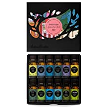 Everyday 100% Pure Essential Oil Gift Set- 12/10 ml (Breathe Easier, Cleaning, Frankincense (serrata), Fighting Five,Lavender, Lemon, Muscle Relief, Peppermint, Purify, Stress Relief, Tea Tree, Uplift) by Edens Gar