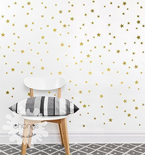 A-Gold-Star-in-the-room-Star-wall-decal-Mini-Size-Star-Pack-3-Size-Stars-Decal-Set-Kids-wall-decoration-Nursery-Wall-Decal-Gold