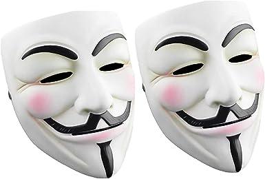Halloween 2020 Mask White Amazon.com: Cataixy Hacker Mask v for Costume   Anonymous Mask V