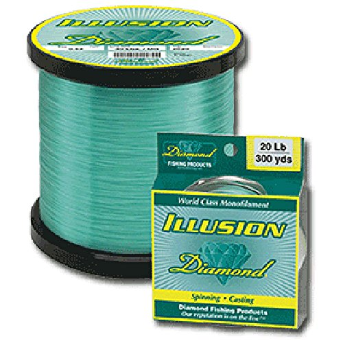 Diamond Illusion Monofilament Line - 1 lb. Spool - 20 lb. - 3360 yd. - Mystic Green