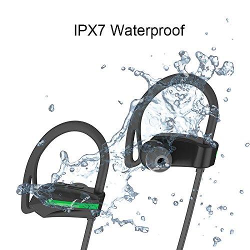 Gederq Fone社デOuvidoマイク防水IPX7ステレオヘッドセットとBluetoothハンズフリースポーツワイヤレスイヤホン低音ヘッドフォン B07D8MC5TR
