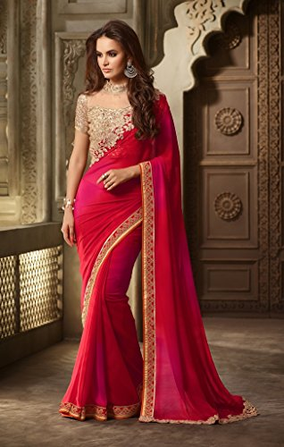 Aarah-Womens-Wedding-And-Party-Wear-New-Collection-Saree-Free-Size-Red