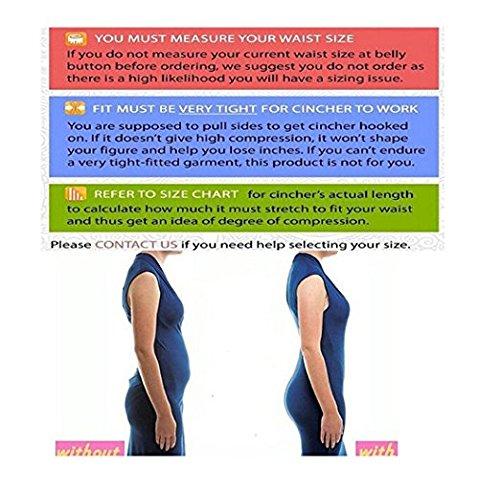 Corsé Faja Reductora de Cinturón Formación de Cuerpo Figura Push-up Quemar Grasa Cincher para Mujer Amarillo-3 filas gancho&ojo