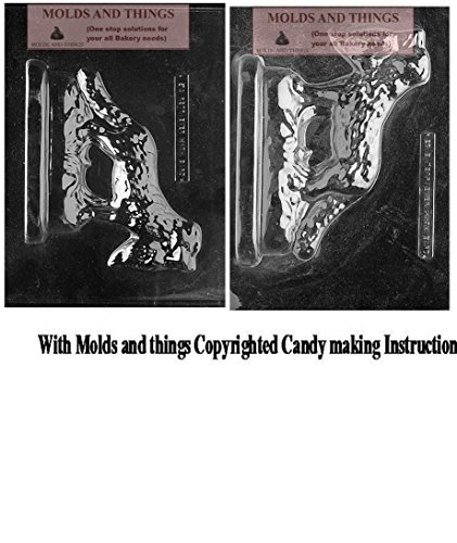 GOLDEN RETRIEVER W/ BIRD Chocolate candy mold, Dog mold with copywrited molding Instructions