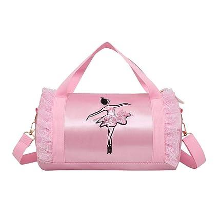 Enjoyall Bolso de ballet para niñas Bolso de baile emplea bordado y lentejuelas Bolso de hombro